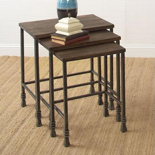 Largo Accent Tables Three Pack Stack Tables - Item Number: T359-160