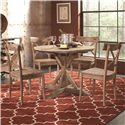 Largo Callista Round Dining Table and Side Chair Set - Item Number: D680-30+4x41