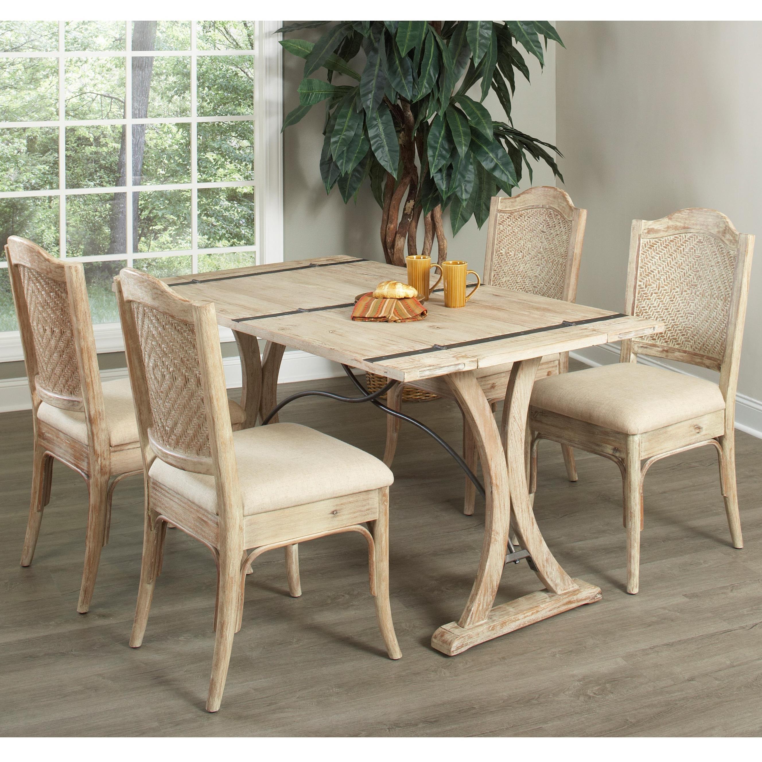 Largo Callista 5 Piece Dining Set With Folding Top Table