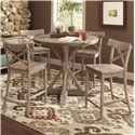 Largo Callista Counter Height Dining Table Set - Item Number: D680-36+4x22