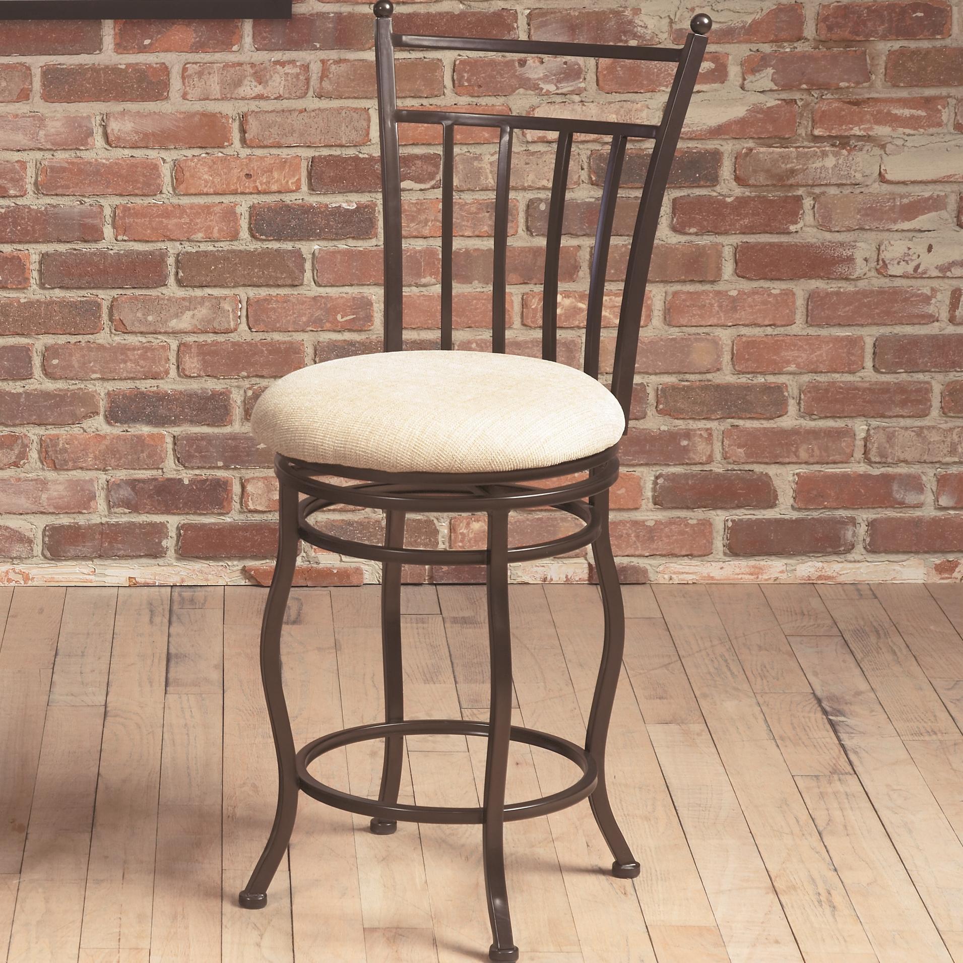Largo Eliza Swivel Counter Height Stool W Upholstered Seat Ivan Smith Furniture Bar Stool