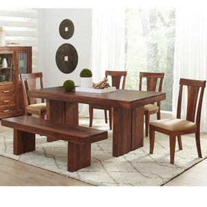 Largo Harrison Square Dining Set with Bench