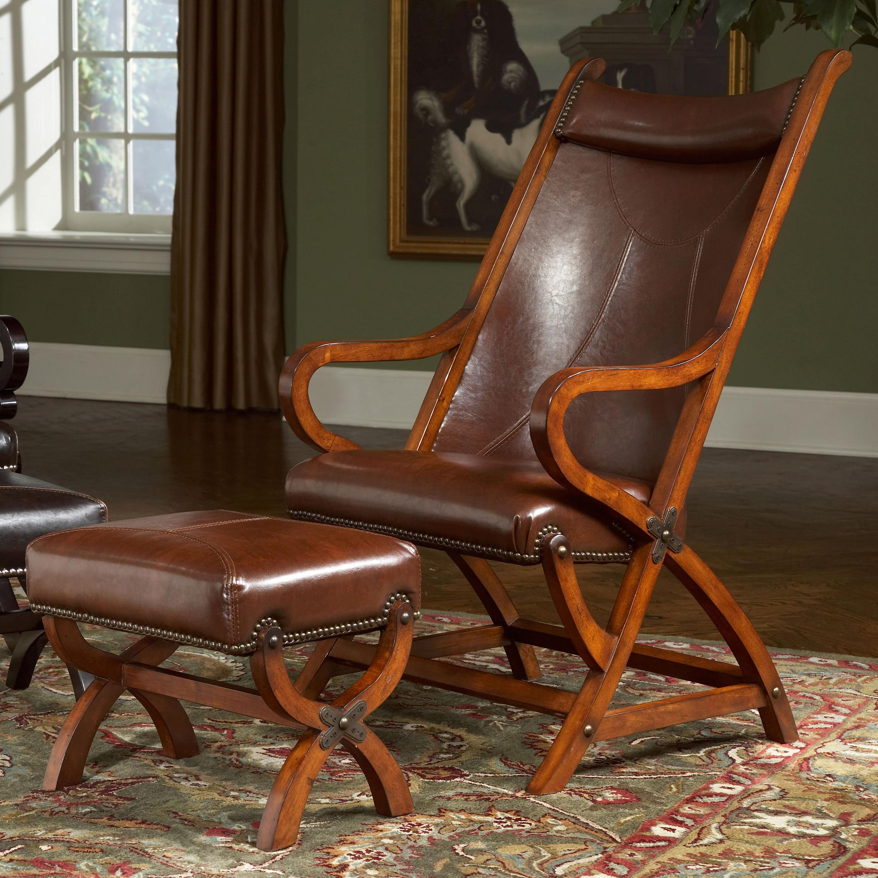 Gentil Largo Hunter Hunter Chair And Ottoman   Item Number: L731A