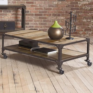 Largo Industrial Age Rectangular Cocktail Table