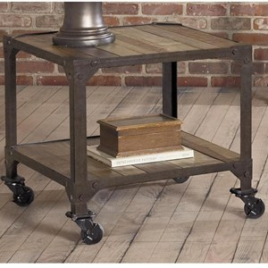 Largo Industrial Age Square End Table