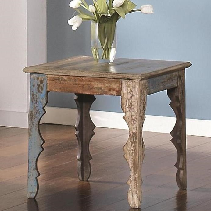 Largo Jaipur Square End Table With Shaped Legs Stuckey