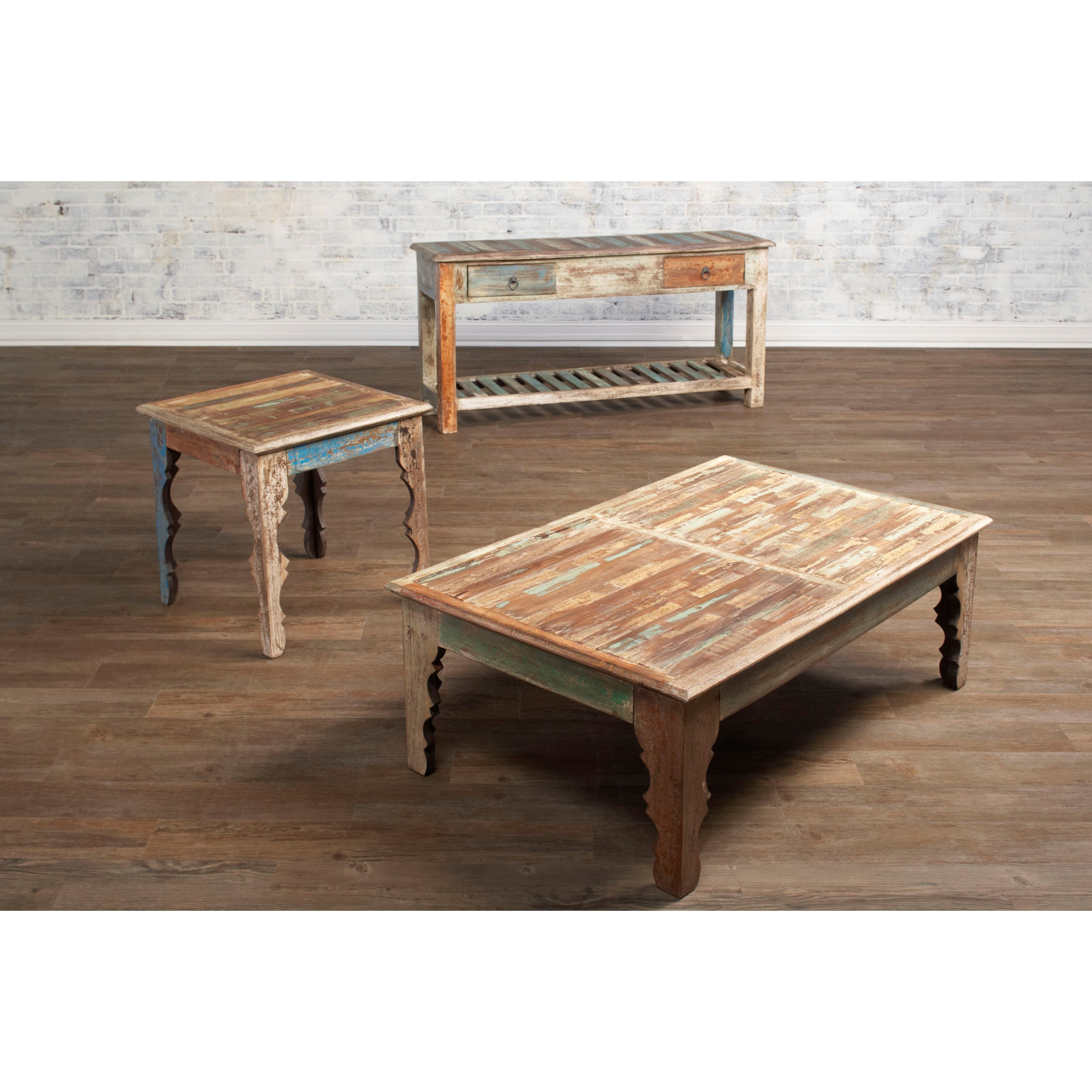 Largo/Elements Jaipur Square End Table With Shaped Legs