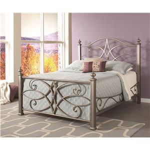 Largo Katrina King Metal Bed