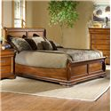 Largo Shenandoah Queen Low-Profile Sleigh Bed - Item Number: B4350-58