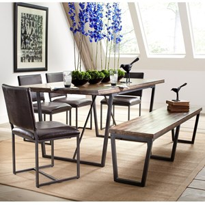 Largo Plaza Dining Set with Bench