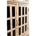 Largo Rustic Collectibles Rustic Two Door Accent Cabinet with Glass Doors