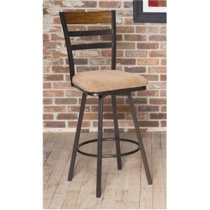 Tempo Swivel Bar Stool w/ Upholstered Seat by Largo