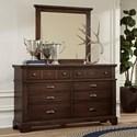 Laurel Mercantile Co. LMCo. Home  Dresser and Mirror - Item Number: 730-002+446