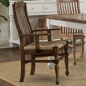 Seagrass Seat Arm Chair