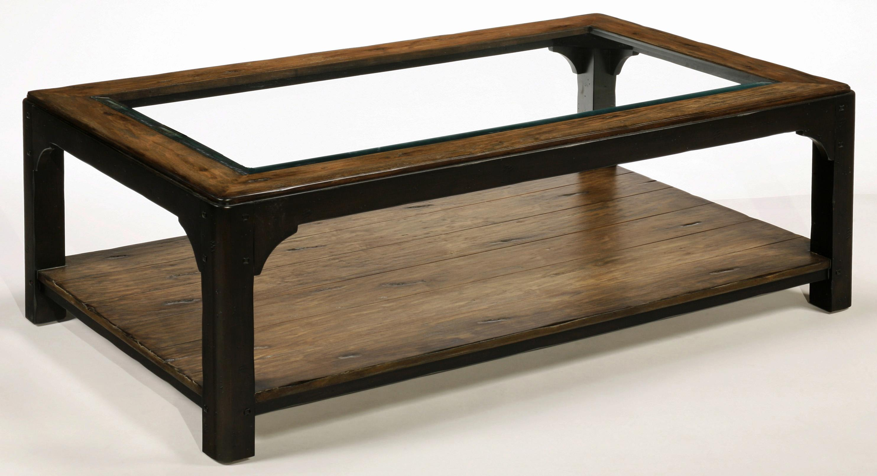 LaurelHouse Designs Carson Glass Top Cocktail Table - Item Number: 104500-02