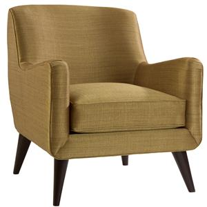 Lazar Lodi Chair with Exposed Wood legs