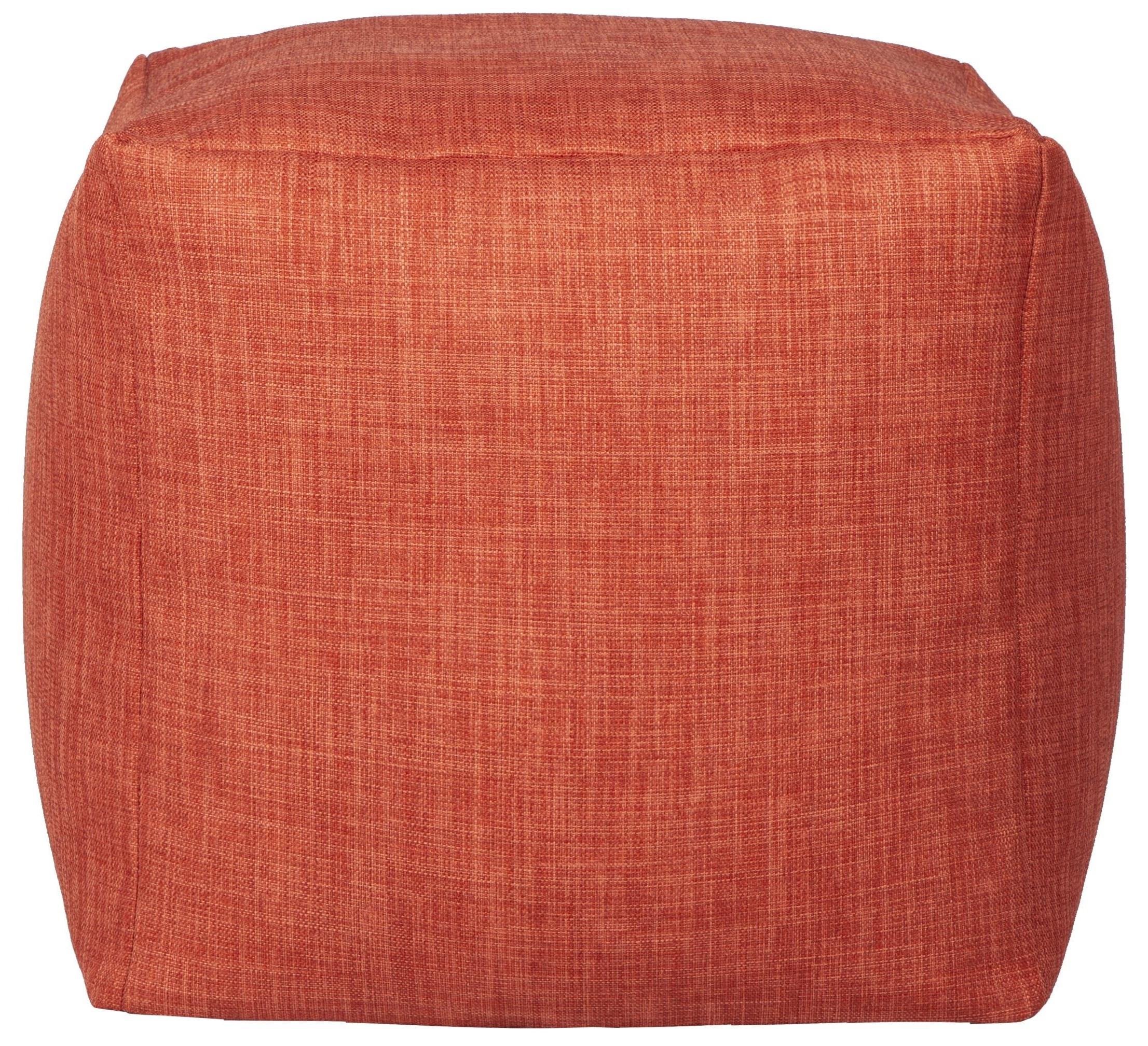 Canvas Orange Cube Beanbag