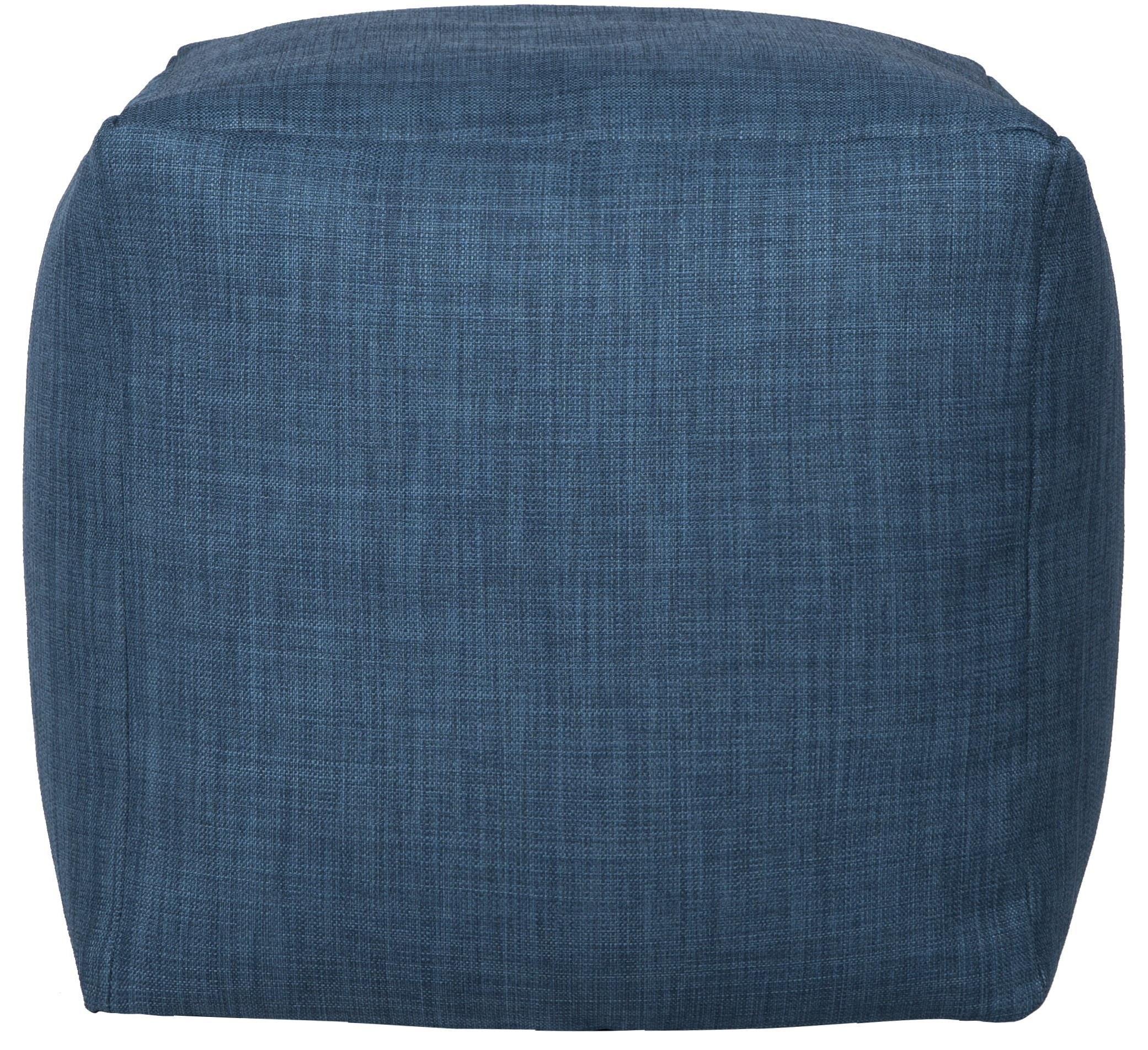 Canvas Blue Cube Beanbag