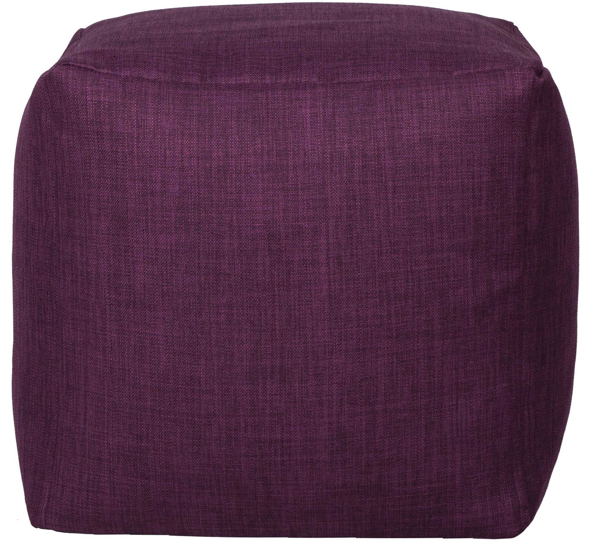 Canvas Purple Cube Beanbag