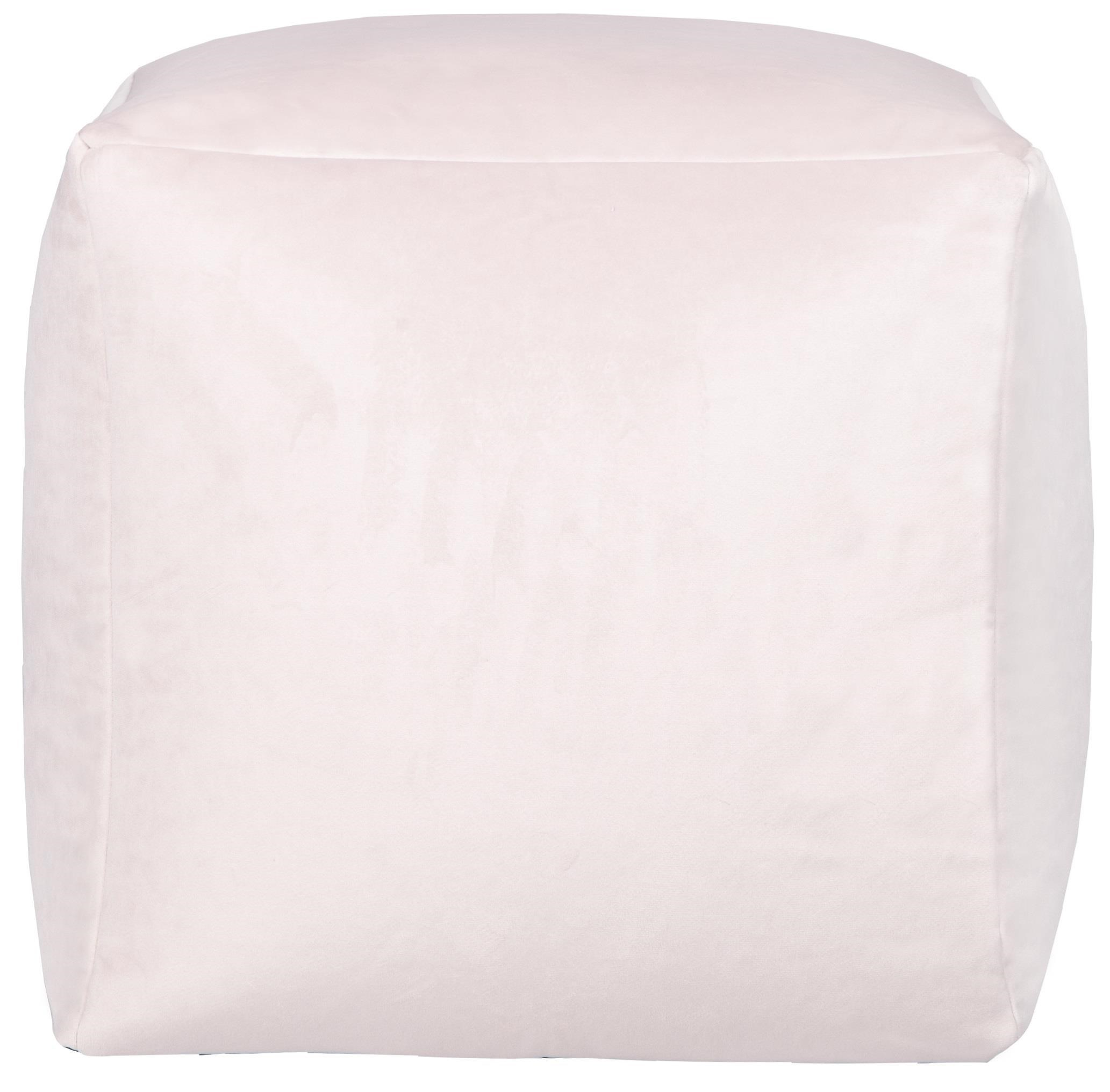 Beanbag Cream Cube Beanbag by Lazy Life Paris at Red Knot