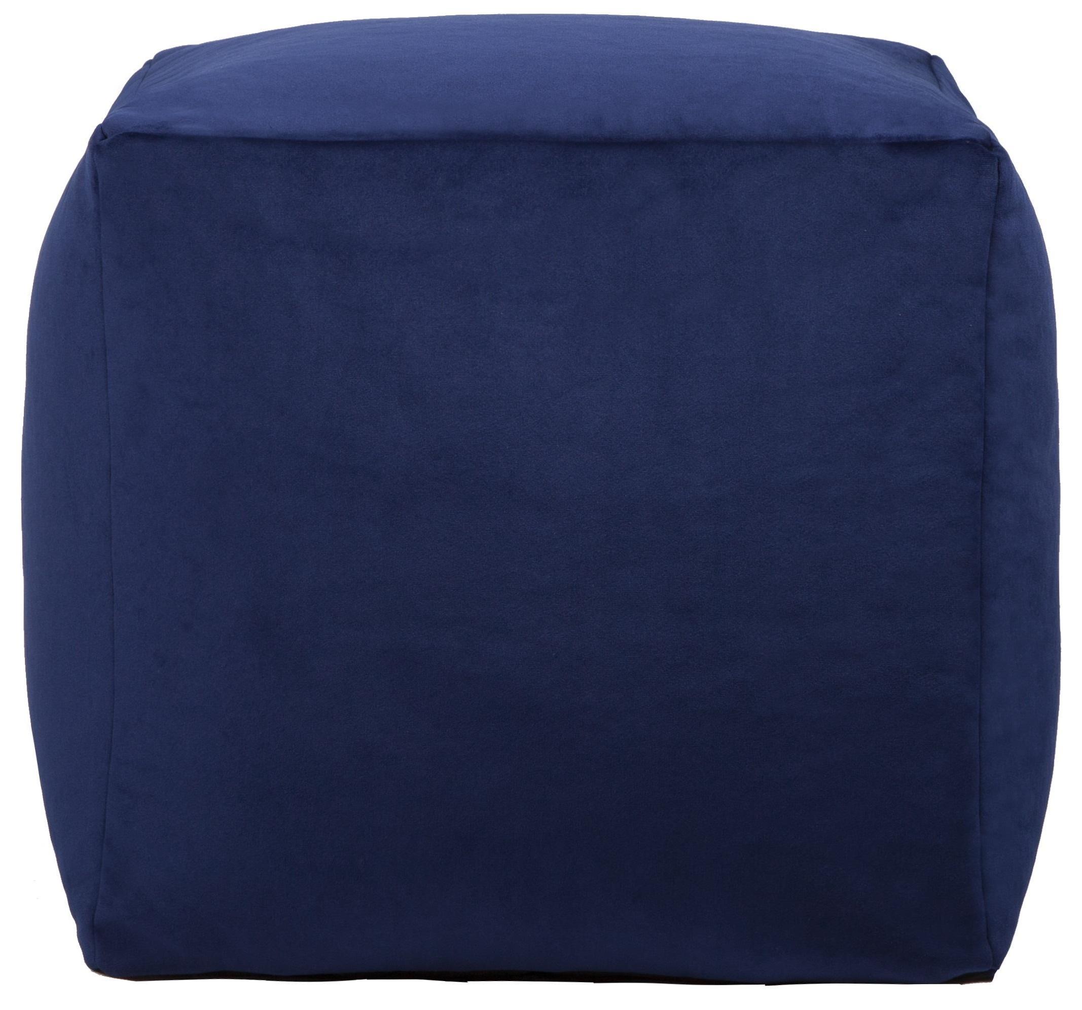 Beanbag Blue Cube Beanbag by Lazy Life Paris at HomeWorld Furniture