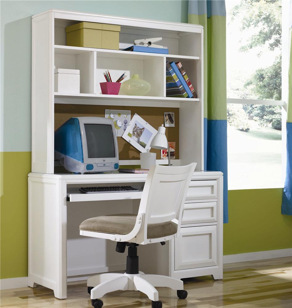 Elite   Reflections Single Pedestal Desk U0026 Hutch By Lea Industries
