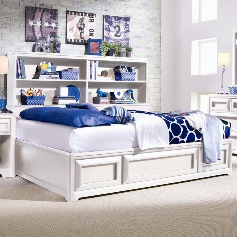 Lea Industries Elite   Reflections Full Bookcase Platform Bed With Underbed  Storage   AHFA   Bookcase Bed Dealer Locator