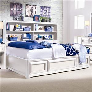 Lea Industries Elite   Reflections Full Bookcase Platform Bed