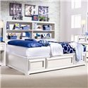 Lea Industries Elite - Reflections Twin Bookcase Platform Bed with Underbed Storage - 876-900+923 - Bed Shown May Not Represent Size Indicated