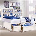 Lea Industries Elite - Reflections Twin Bookcase Platform Bed with Underbed Storage - 876-900+923 - Three Storage Drawers Provide Plenty of Organization Space - Bed Shown May Not Represent Size Indicated