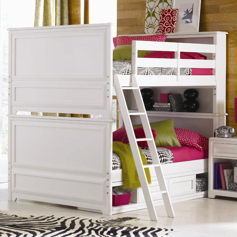 Elite - Reflections Full-Over-Full Bunk Bed with Underbed Storage Unit by Lea Industries & Lea Industries Elite - Reflections Full-Over-Full Bunk Bed with ...