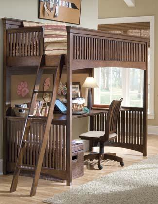 Lea Industries Elite - Crossover Twin-Size Loft Bed with Desk - AHFA ...