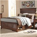 Lea Industries Elite - Crossover Queen Slat Headboard & Footboard Bed with Underbed Drawer Box - 826-950+951+097+915