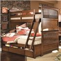 Lea Industries Elite - Crossover Twin-Over-Full Bunk Bed with Dual Underbed Storage - 826-976R+980+SP46+910