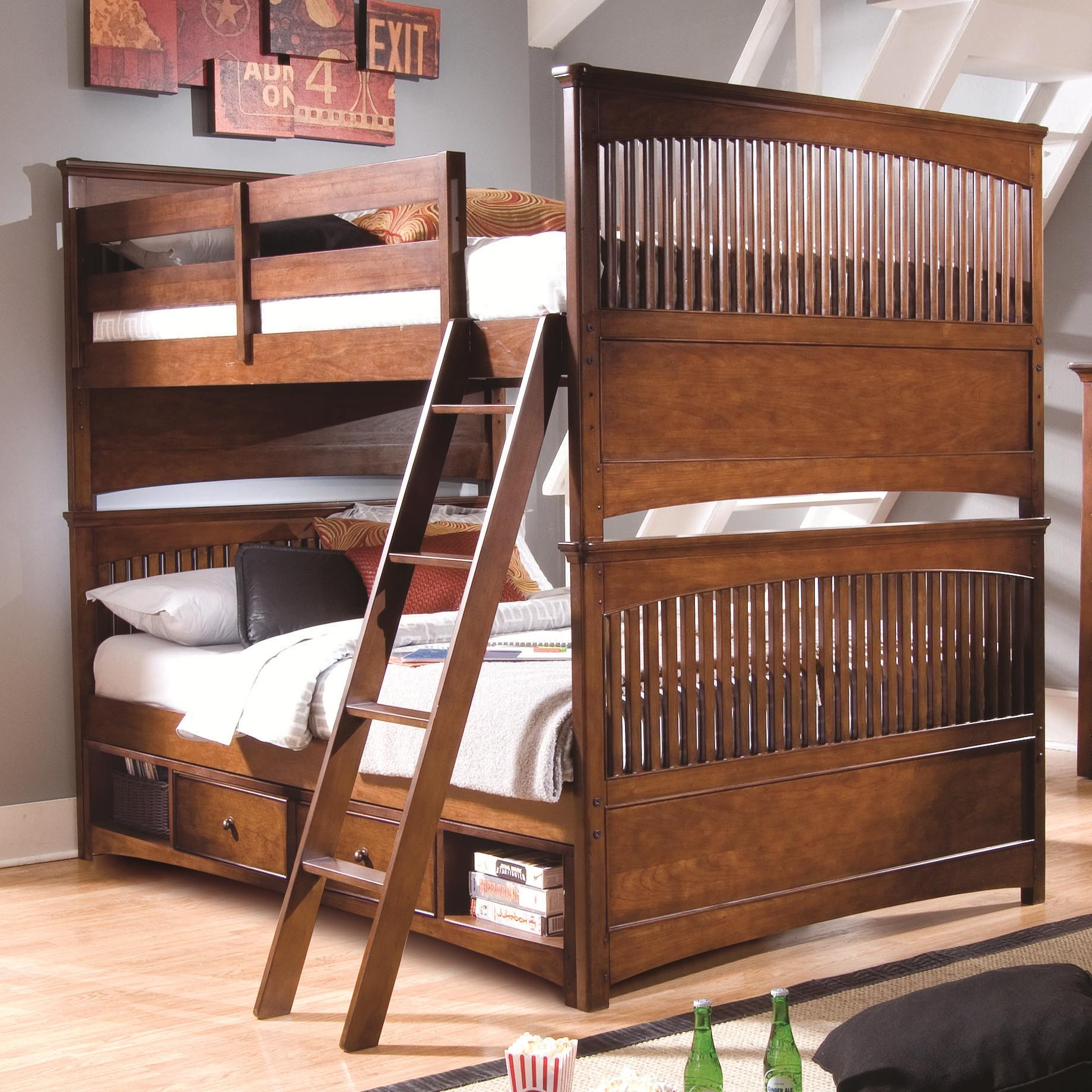 lea industries elite crossover full over full bunk bed with