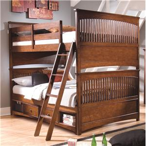 Morris Home Furnishings Fairmont Full-Over-Full Storage Bunk Bed