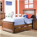 Lea Industries Elite - Classics Twin Size Panel Bed with Dual Function Underbed Storage - 816-930+931+091+909 - Bed Shown May Not Represent Size Indicated