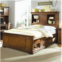 Lea Industries Elite - Classics Queen Bookcase Bed with Underbed Drawer Box - 816-955+951+097+915 - Bed Shown May Not Represent Size Indicated