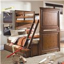 Lea Industries Elite - Classics Twin Over Full Size Bunk Bed with Dual Function Underbed Storage - 816-976R+98D+909