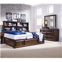 Lea Industries Elite - Expressions Dresser with 7 Drawers Featured with Rectangular Mirror - 856-030+856-271 - Drawer Dresser and Mirror Shown in Full Bedroom Setting