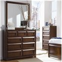 Lea Industries Elite - Expressions Rectangular Mirror with 9 Drawer Dresser - 856-030+856-291