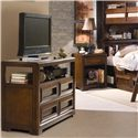 Lea Industries Elite - Expressions 4 Drawer Entertainment Cabinet - 856-130 - Media Cabinet Shown with Nightstand