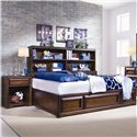 Lea Industries Elite - Expressions Night Stand, Drawer and Shelf - 856-411 - Nightstand Shown with Bed