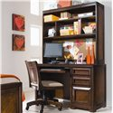 Lea Industries Elite - Expressions Hutch with Shelves, Uprights, Top Opening - 856-545 - Hutch Shown with Office Desk