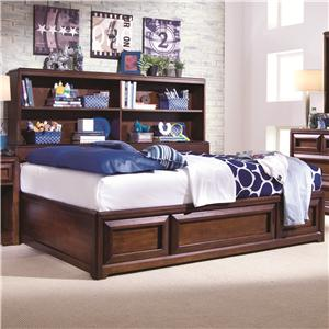 Morris Home Furnishings Roma Full Bookcase Storage Bed
