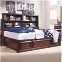 Lea Industries Elite - Expressions Twin Platform Storage Bed with Bookcase Backboard - 856-900+923 - Bed Shown May Not Represent Size Indicated