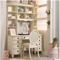 Lea Industries Emma's Treasures Nine-Drawer Desk & Large Hutch with Corkboard - 606-345+545