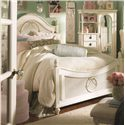 Lea Industries Emma's Treasures Full-Size Low Post Bed with Decoratively Carved Appliques - 606-940+942+091 - Bed Shown May Not Represent Size Indicated