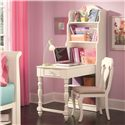 Morris Home Furnishings Geneva Bookcase Desk with Adjustable Shelves - Shown with Desk Chair