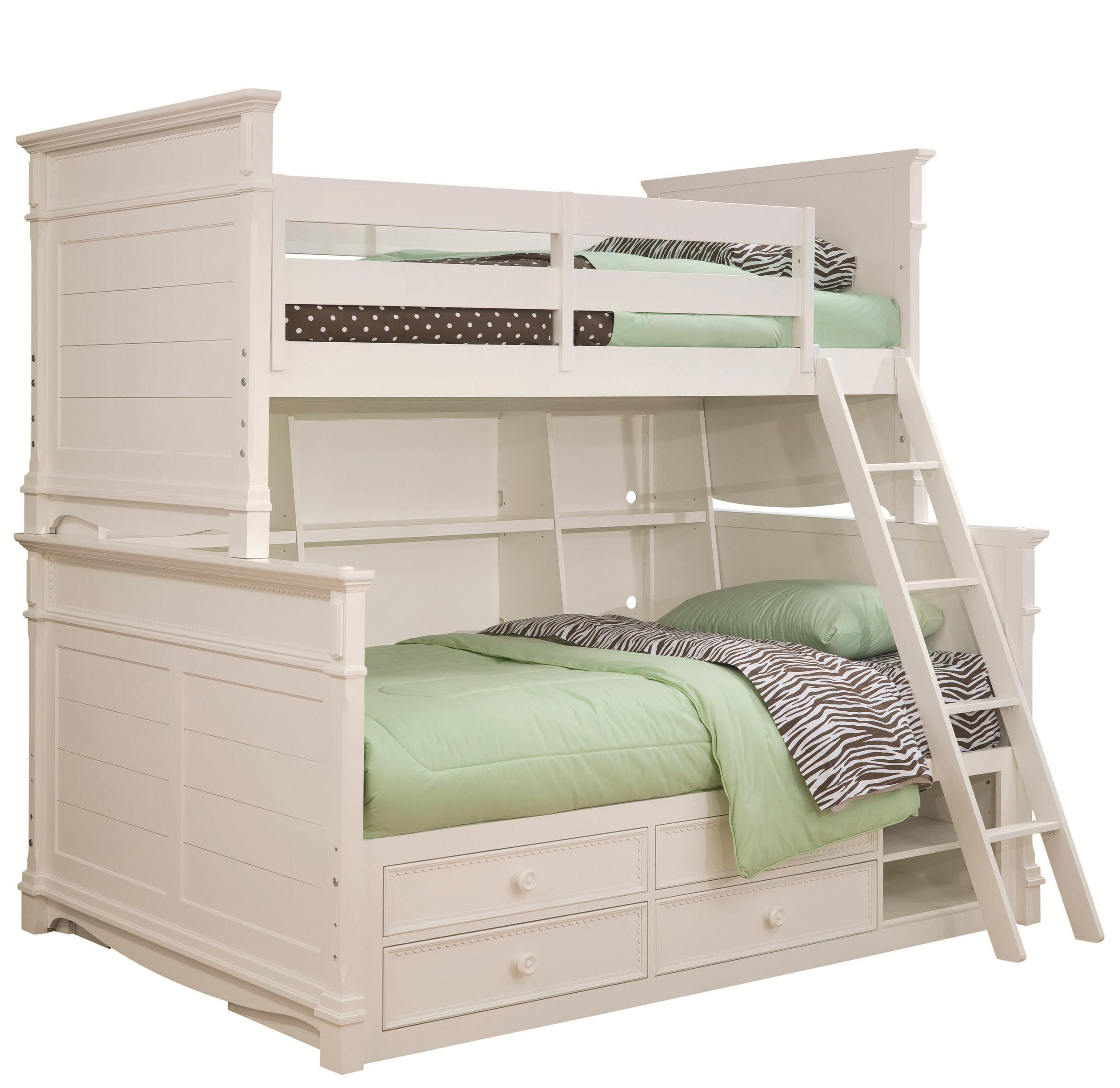 lea industries hannah twin over full bunk bed with storage